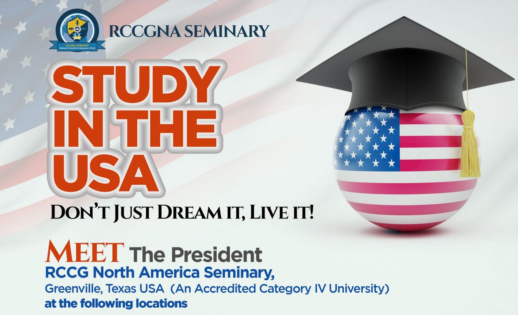 Meet the President RCCG North America Seminary, Greenville, Texas USA